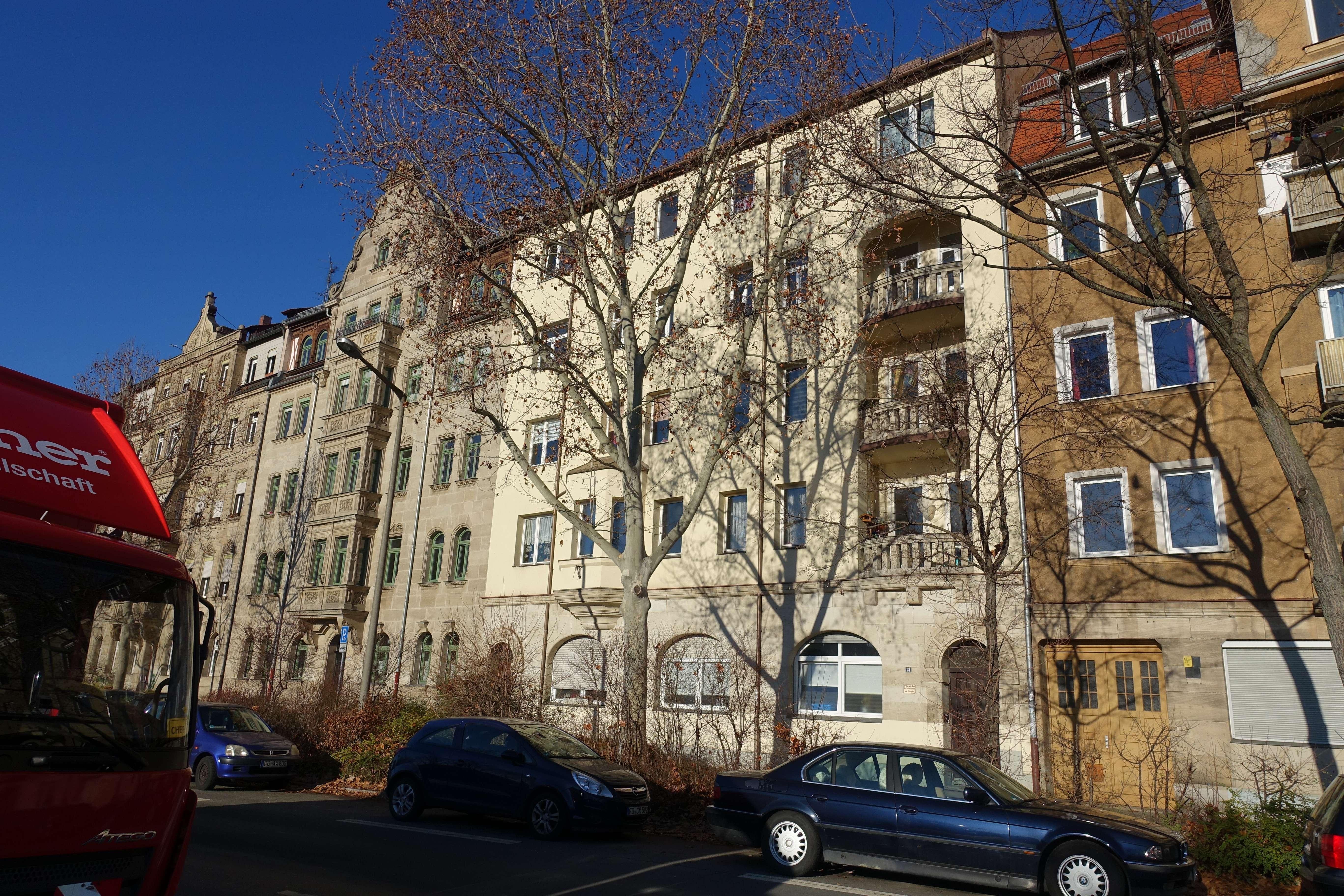 3 Zimmer Wohnung mit 2 Balkonen in der Hornschuchpromenade 31 in