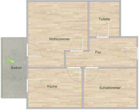 - Luxuriöse 2-Zimmer-Wohnung mit Balkon, Küche und Kaminofen - in Ochsenfurt