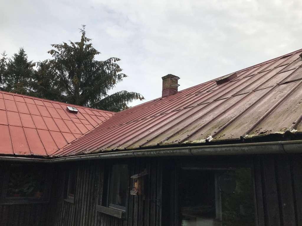 eine Sicht auf das Dach