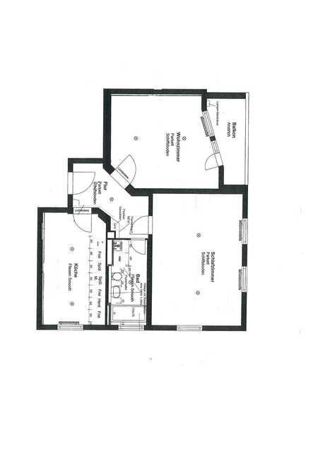 Bahnhofs-/Bismarckviertel * zentrale Lage * komplett neu saniert * große 2 Zi.-Whg. * 84 m² in Augsburg-Innenstadt