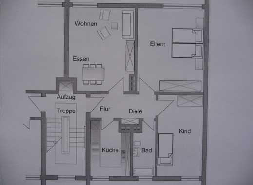 Schön geschnittene 3-Zimmer-Wohnung mit Einbauküche in Mainz-Gonsenheim