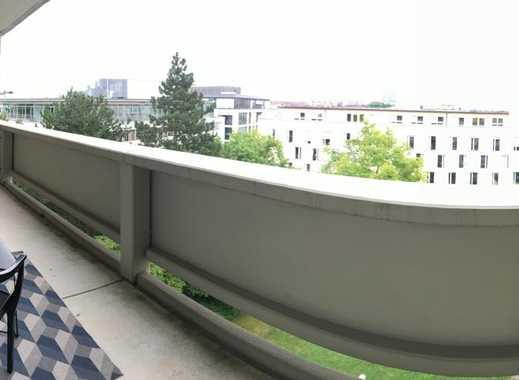 SEHR SCHICKE MODERNE komplett MÖBLIERTE 2-Zimmer-Wohnung,ca.60m²,TERRASSENARTIGER BALKON,SENDLING