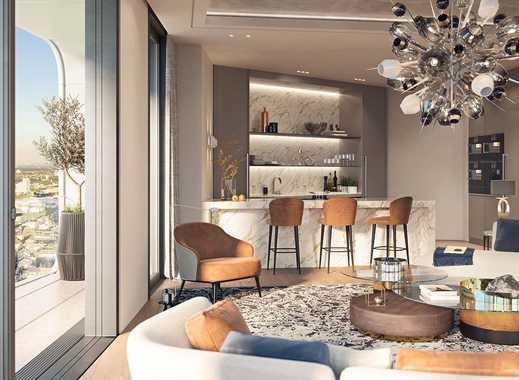 3-Zimmer-Penthouse mit faszinierenden Aussichten und exklusivem Design mitten in Frankfurt