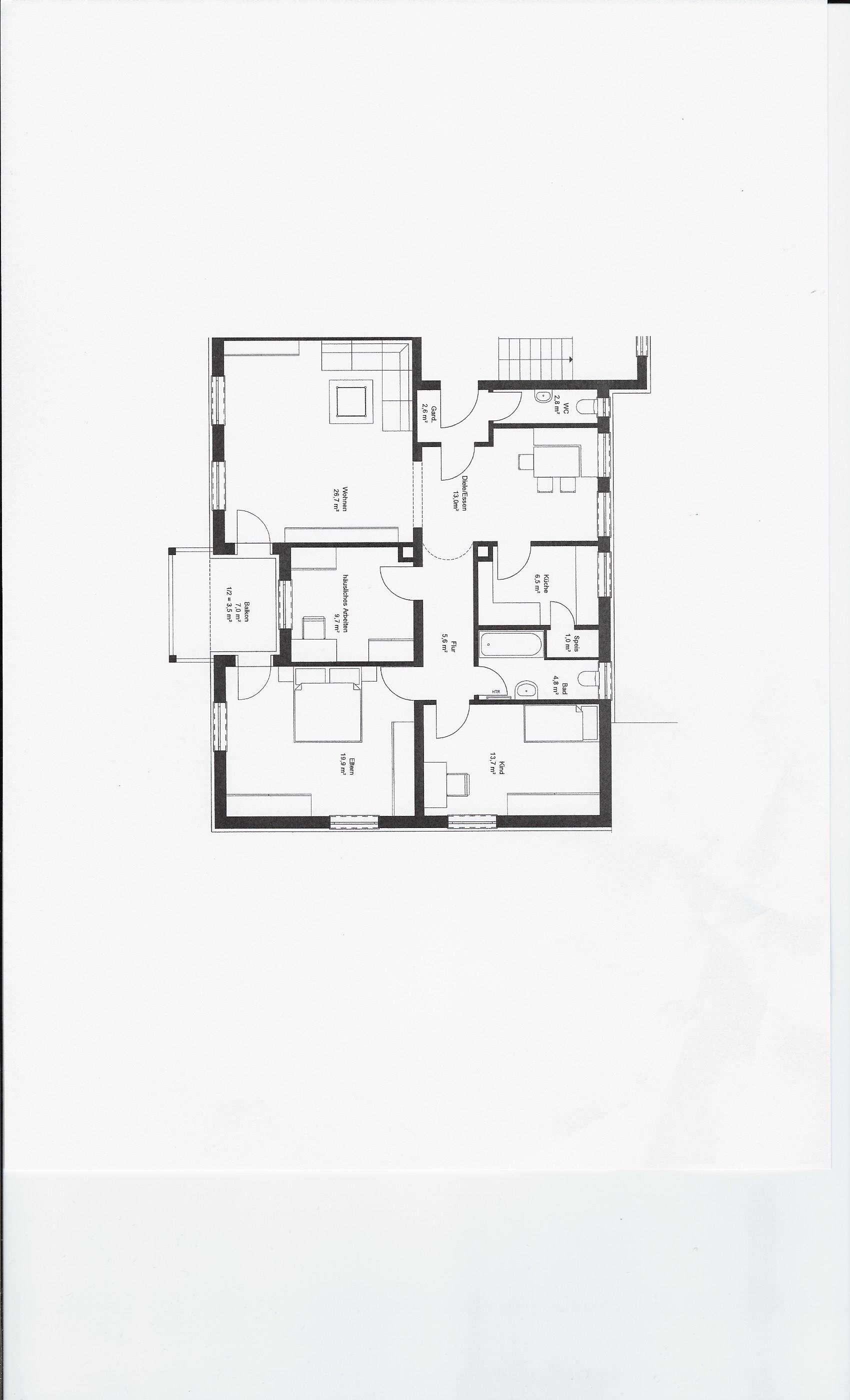 Schöne, helle 4-Zimmer-Wohnung mit Südbalkon in Neusäß