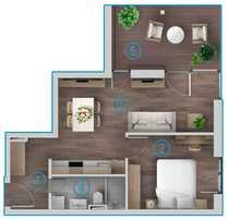 Exklusive 2 Zimmer Obergeschosswohnung