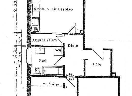 Wohnen am Mondpalast - Große 2 Raum-Wohnung + große Küche und Bad