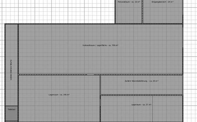 Grundriss - Skizzierung -  für