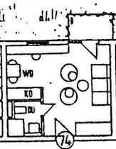 Exklusive gepflegte 1-Zimmer-Wohnung mit Balkon