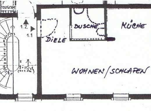 Schöne, Möbl. 1 Zimmer-Wohnung in zentraler Lage,  2 min. zu OF-HBF