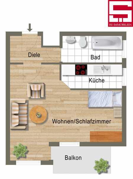 Schöne helle 1-Zimmer-Wohnung mit Blick ins Grüne! in Allach (München)