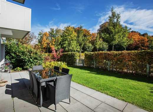 Wohnen am Luitpoldpark: elegante Gartenwohnung mit herrlichem Blick