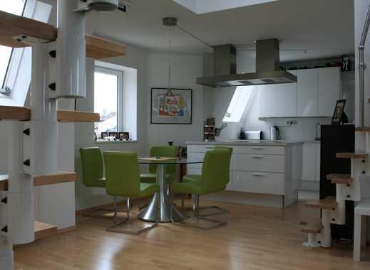 Exklusive, sanierte 3,5-Zimmer-Maisonette-Wohnung mit Einbauküche in Frankfurt