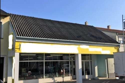 Geschäftslokal mit Parkplätzen in Illmitz zu vermieten.Toplage an der Haupttstrasse.