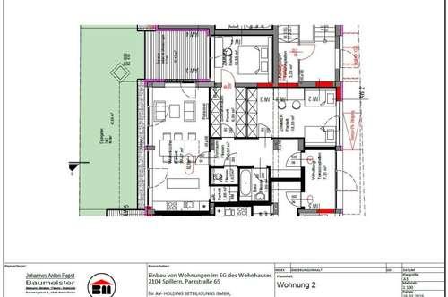 Spillern MIETWOHNUNG 82,18 m² - ab 1.Mai 2018 mit Küche