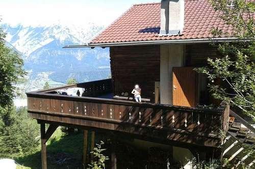 Berghütte in wunderschöner Alleinlage im Skigebiet auf 1.350m Höhe - Nähe Tulfes