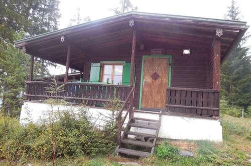 Berghütte mit traumhaften Ausblick auf ca. 1.300m Höhe, ausgewiesener Freizeitwohnsitz. Neubau möglich! - Nähe Wattens