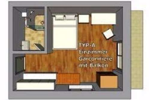Einzimmer Apartment in Sankt Magdalen. !