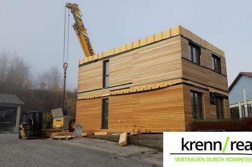 Hier entsteht Ihr modernes Qualitäts-Holzriegel-Modulhaus mit unverbaubaren Ausblick