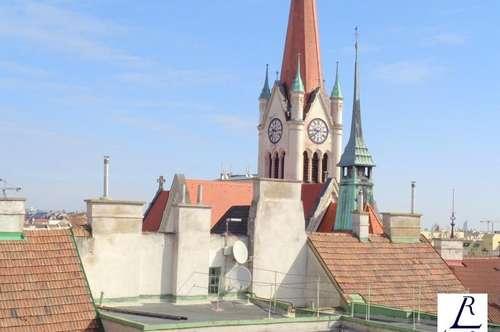 Dachterrassenwohnung in schönem Jugendstilhaus/ Traumhafter Fernblick über Wien!