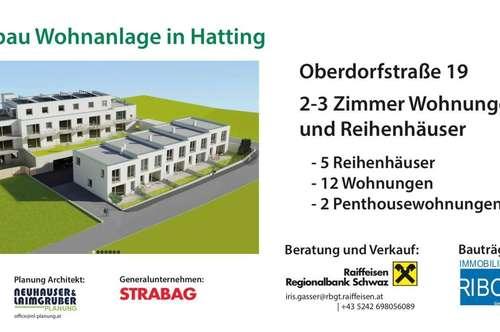 3 Zimmer Wohnung Neubau in Hatting