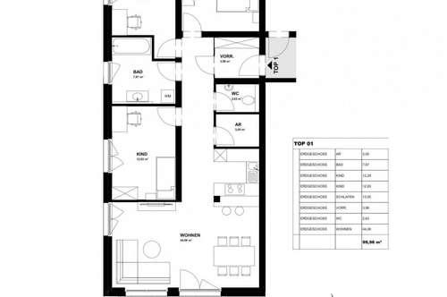 Erdgeschoßwohnung mit 100m² Wohnfläche und 160 m² Garten- nur mehr 3 Einheiten verfügbar