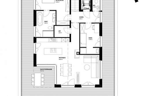 Sichern Sie sich jetzt Ihre 115m² Penthousewohnung mit Dachterrasse, Carport in Toplage von Strasswalchen
