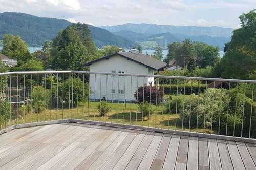 Haus am Attersee mit Seeblick, Garten, Wintergarten und 2 Terrassen