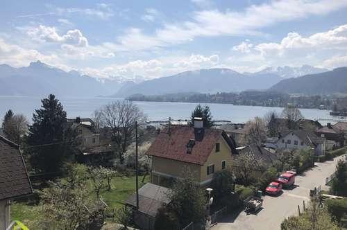 Dachgeschoß mit grandiosen Blick auf Traunsee und Traunstein mit 3 Balkonen 1 Terrasse und Tiefgarage
