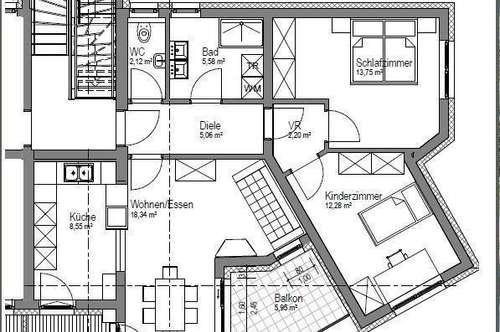 ERSTBEZUG !  3-Zimmerwohnung mit Garage am Ortsrand -