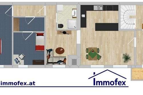 Moderne Wohnung in Altem Gemäuer
