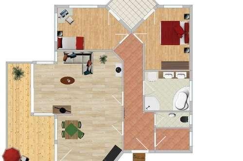 Helle 3 Zimmer Terrassenwohnung mit Ausblick