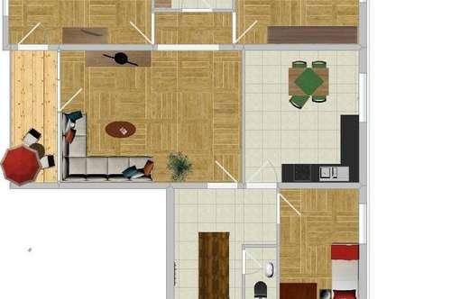 Erstbezug nach Neurenovierung: 4-Zimmer + Balkon