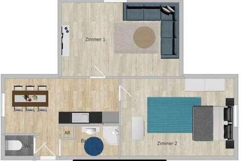 2-3 Zimmer Wohnung - saniert! perfekt als 2er WG