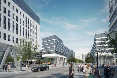 Alles an einem Ort: Neues modernes Büro, Kiga, Hotel, Nahversorgung, top Verkehrsanbindung