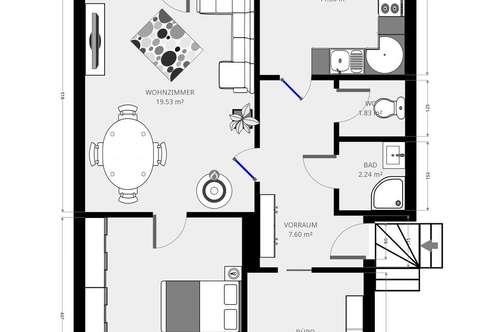 HELLER WOHNSINN // Großzügige 3-Zimmer Wohnung mit Balkon in Eichgraben