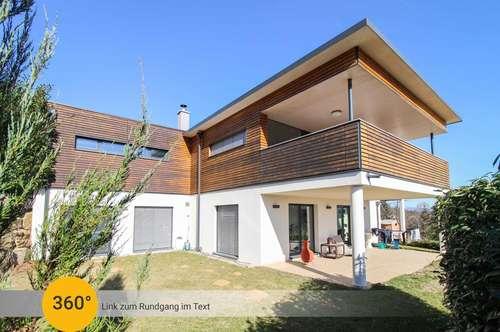 Gehobenes Wohnen bei Graz: Modernes Architektenhaus mit 3 Terrassen u. Wellnessbereich in Sonnenlage