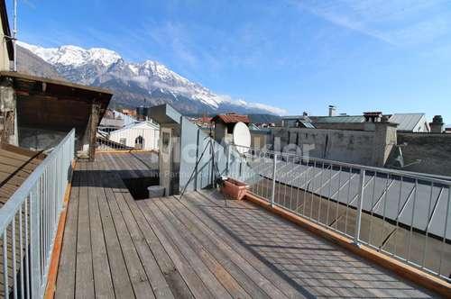 Herrlicher Ausblick unweit von Innsbruck - umfassend sanierte 3-Zimmer-Whg. mit Dachterrasse