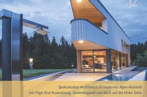 Spektakuläre Architektur in moderner Alpin-Ästhetik