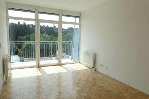 Modernes 1-Zimmer Apartment – LKH Nähe – mit sonniger Terrasse und Grünblick!