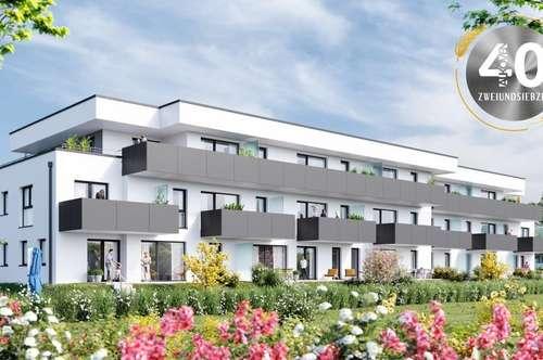 """Neubauprojekt """"Vierzig72"""" - Moderne 3 ZI-Gartenwohnung im Zentrum von Alkoven"""