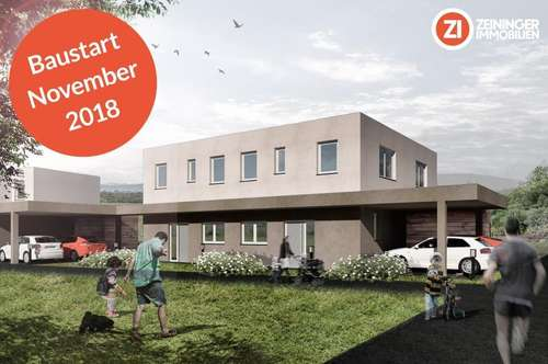 Leistbare Doppelhaushälfte in ruhiger Siedlungslage - Gefördert - Baustart Nov.2018