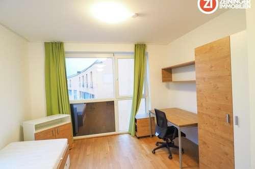 Ideales 2-ZI Appartment - vollmöbliert - mit Balkon - Nähe MED Uni