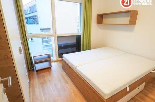 Attraktives 2-ZI Appartment - vollmöbliert - mit Balkon - Nähe MED Uni