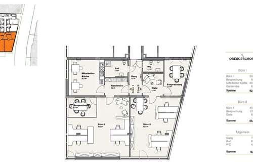 ERSTBEZUG - Büro-/Praxisfläche in zentraler Lage zu vermieten - 92,9 qm im 1.OG