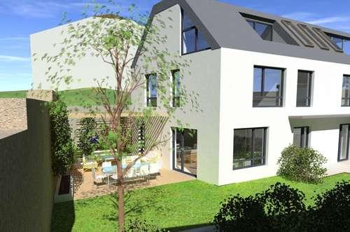 GIESSHÜBL: AM PERLHOF/ökol. 5-6-Zimmer-Designer-Doppelhaushälfte, 158qm, Garten, Dachterrasse