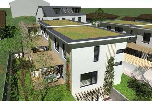 GIESSHÜBL / AM PERLHOF: Ökol. 4-Zimmer-Designer-Doppelhaushälfte zum Wohnen & Arbeiten, 130qm
