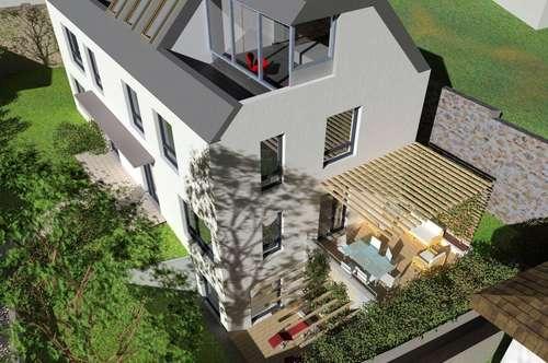 GIESSHÜBL / AM PERLHOF: Loftartige, ökol. 5-Zimmer-Designer-Doppelhaushälfte, 160qm