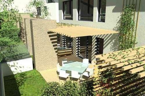GIESSHÜBL / AM PERLHOF: Moderne 4-Zimmer-Designer-Doppelhaushälfte, 96qm mit Wintergarten und Garten