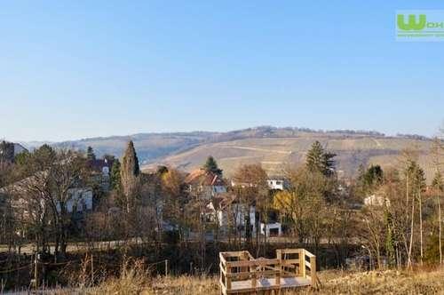 4-JAHRESZEITEN: Wien nahes Baugrundstück mit Aussicht in Klosterneuburg