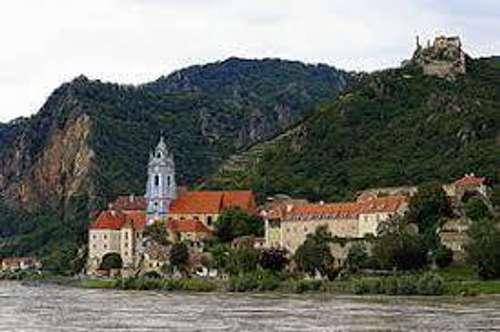 Wachau  Rossatz -  Traumhafter Blick auf Dürnstein , Donaublick